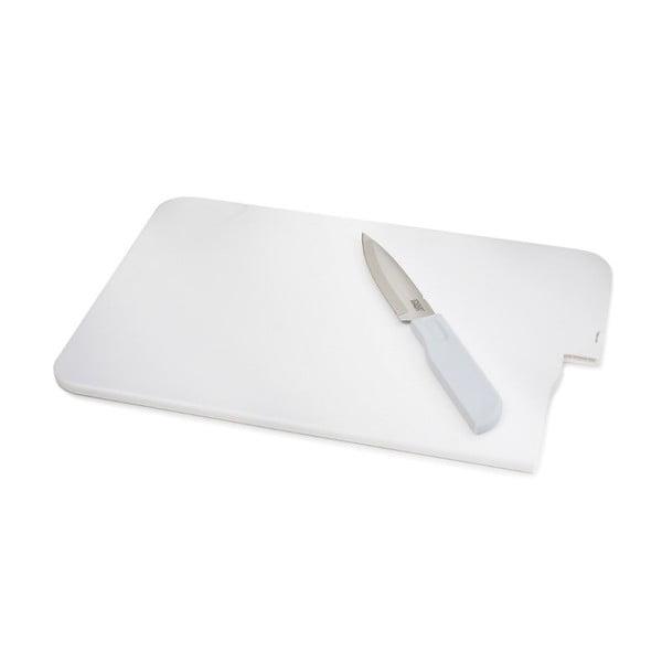 Krájecí prkénko s nožem Slice&Store, bílé