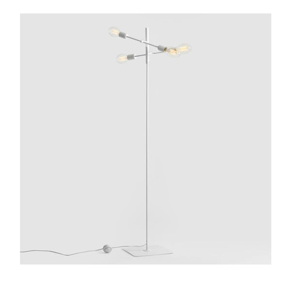 Bílá stojací lampa pro 4 žárovky Custom Form Twigo