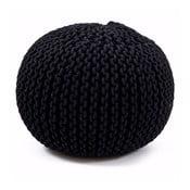 Ručně pletený puf Sabichi Black