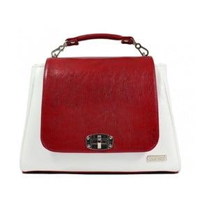 Červeno-bílá kabelka Dara bags Elizabeth No.11