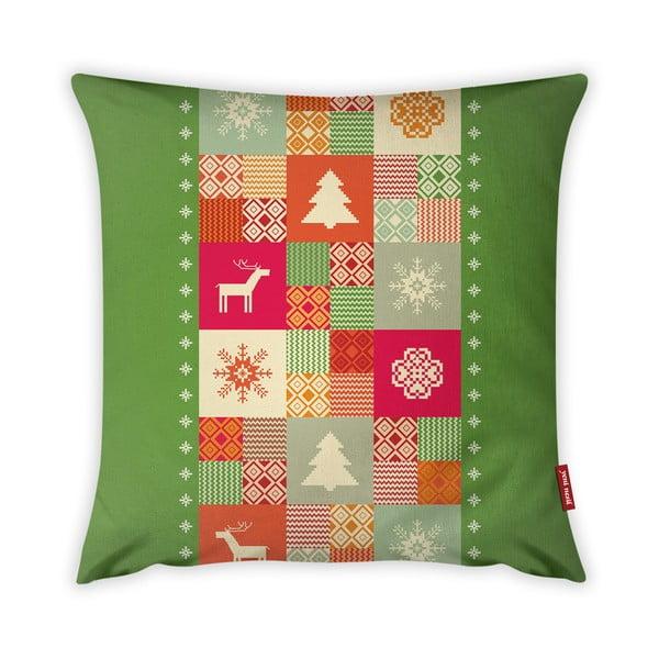 Poszewka na poduszkę Vitaus Christmas Period Playful Pattern, 43x43 cm