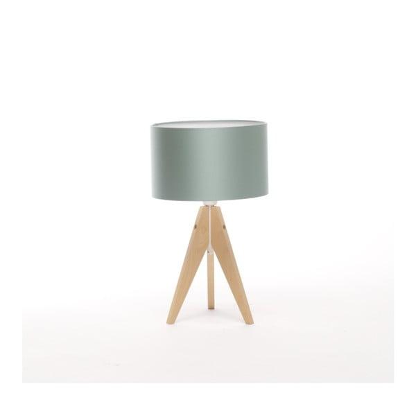 Ocelově modrá  stolní lampa Artist, bříza, Ø 25 cm