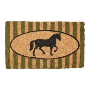 Rohožka Green Stripe Horse, 75x45 cm