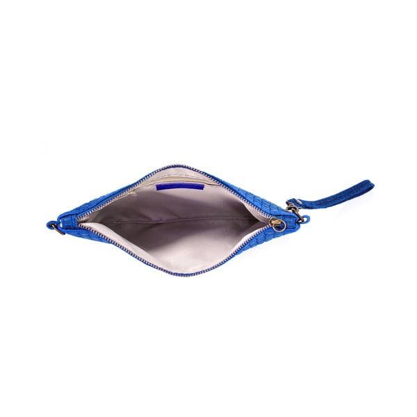 Kožené psaníčko Catarina, modrá