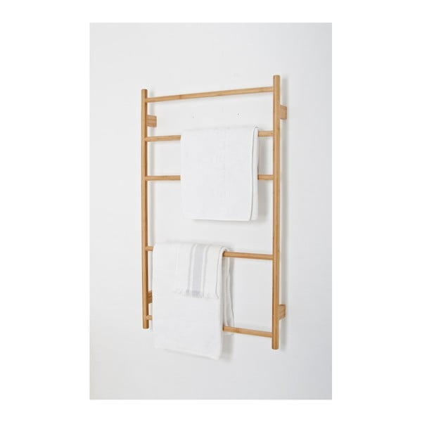 Bambusový nástěnný držák na ručníky Wireworks Towel Rail Wallbar