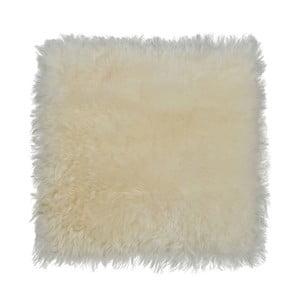 Pernă din blană cu fir scurt pentru scaun Eglé, 37 x 37 cm, crem