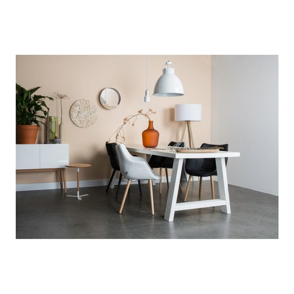Masă din lemn masiv Zuiver A Framed, 200 x 90 cm, alb
