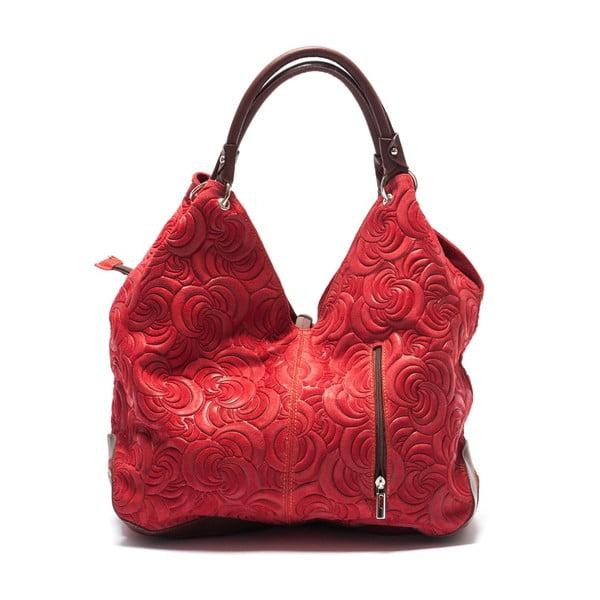 Kožená kabelka Mangotti 8002, červená
