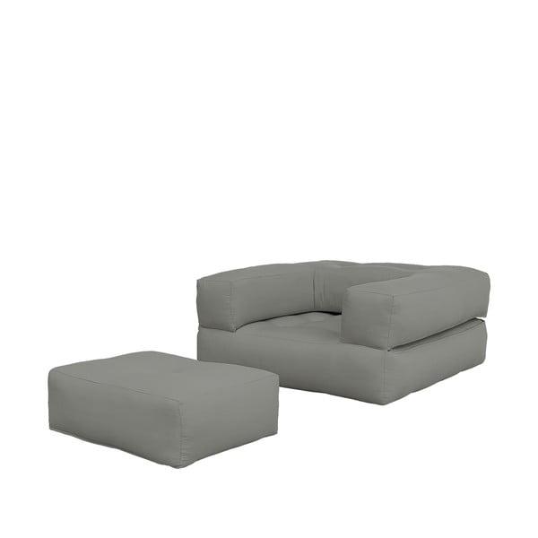 Fotel rozkładany Cube Grey