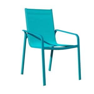 Sada 4 tyrkysových zahradních židlí Ezeis Lineal