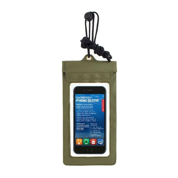 Husă impermeabilă pentru telefon Kikkerland Waterproof, verde