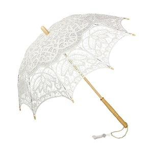 Bílý holový deštník Von Lilienfeld Vivienne Lace, ø 75 cm