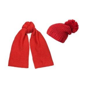 Set căciulă și șal, Elegant Red