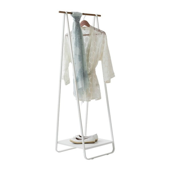 Stojan na oblečenie s poličkou Compactor Portant Blanc