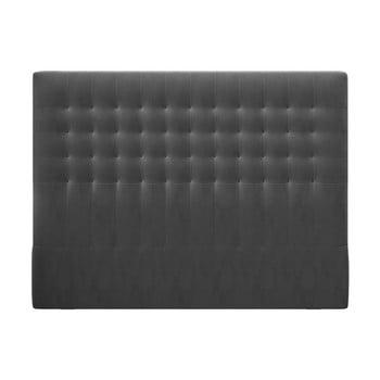 Tăblie pentru pat cu tapițerie de catifea Windsor & Co Sofas Apollo, 160x120cm, gri închis imagine