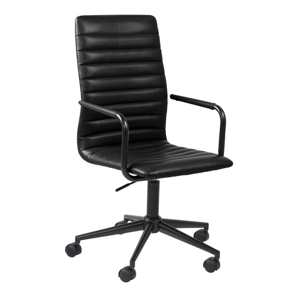 Černá kancelářská židle na kolečkách Actona Wislow