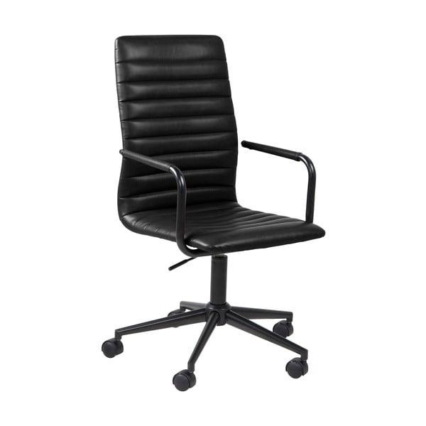 Czarne krzesło biurowe na kółkach Actona Wislow
