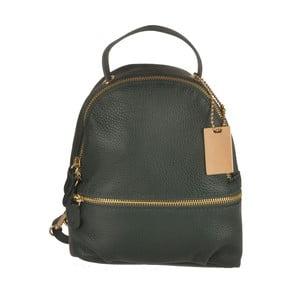Zelený kožený batoh Matilde Costa Gent