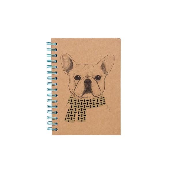 Spirálový zápisník Tri-Coastal Design Gentleman Dog