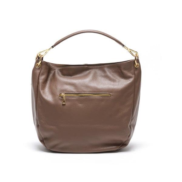Kožená kabelka Fila, hnědá