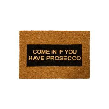 Covoraș intrare din fibre de cocos Artsy Doormats Come In If you Have Prosecco Glitter, 40 x 60 cm