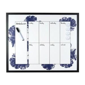 Planificator săptămânal Present Time Autumn Sense, albastru