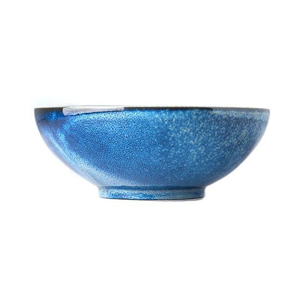 Niebieska miska ceramiczna MIJ Indigo, ø 21 cm