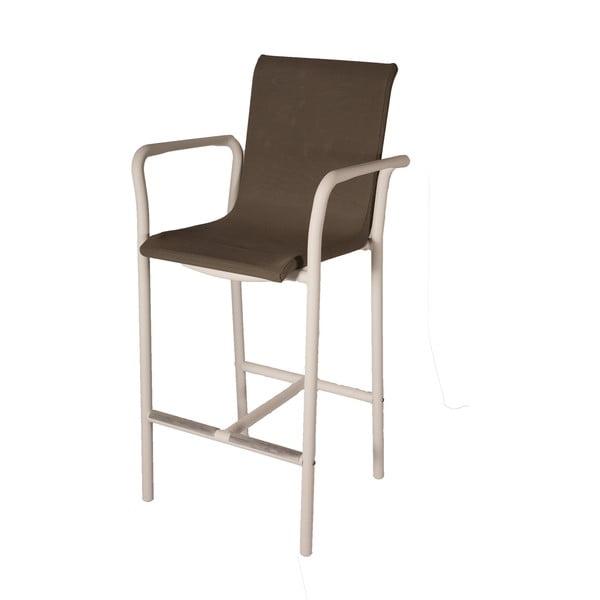 Set 2 scaune de bar stivuibile Ezeis Jaleo, taupe-alb