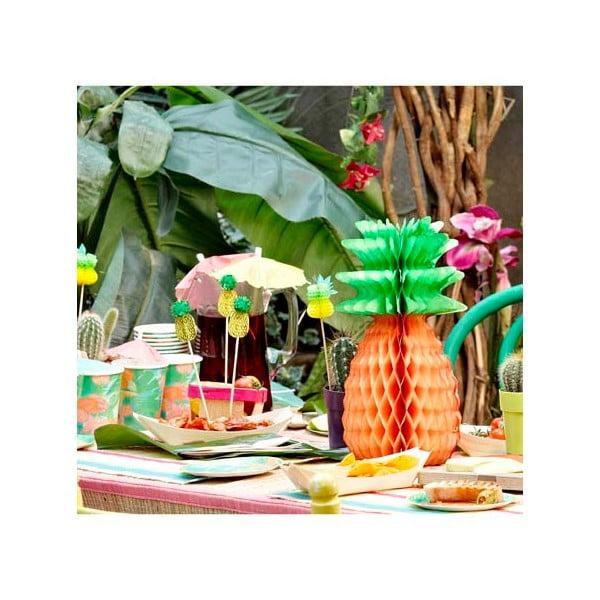 Papírové dekorace Tropicana Pineapple, 3 kusy