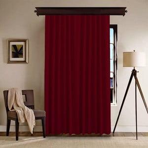 Červený závěs Bordeaux, 140 x 260 cm