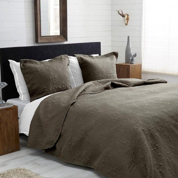 Přehoz přes postel Clara 260x250 cm, béžovošedý