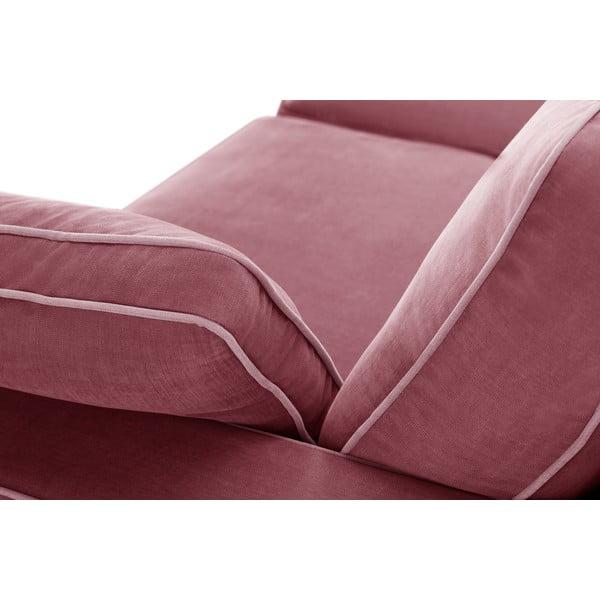 Trojdílná sedací souprava Jalouse Maison Serena, starorůžová