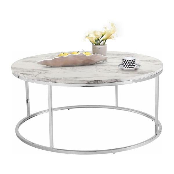 Konferenční stolek s deskou v mramorovém dekoru Støraa Megan, Ø100cm