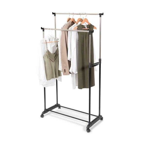 Suport dublu mobil pentru haine, cu înălțime reglabilă Compactor Cleano
