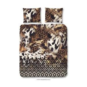 Hnědé povlečení na jednolůžko Muller Textiels Craziness, 140 x 200 cm