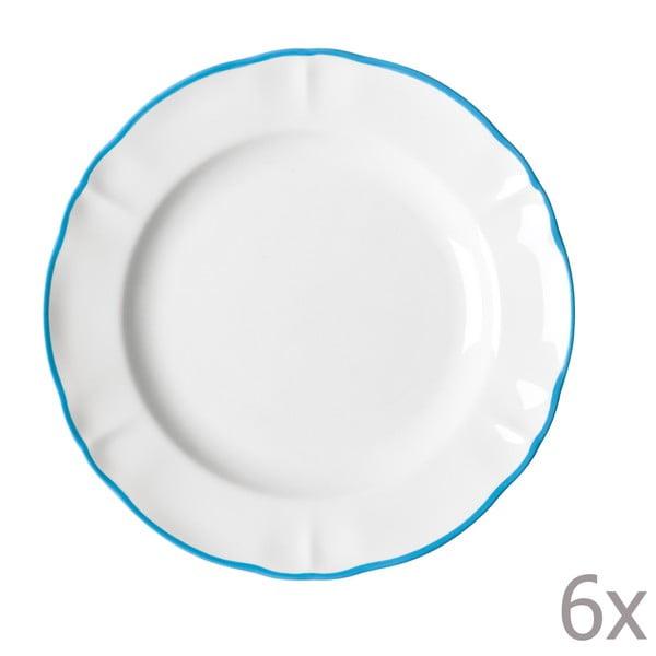 Sada 6 dezertních talířů Parisienne Azzurro