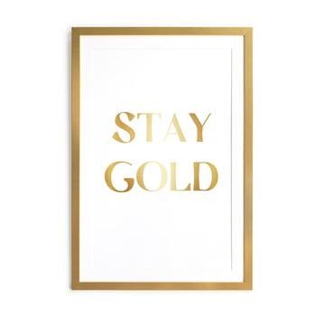 Tablou Velvet Atelier Stay Gold, 60 x 40 cm