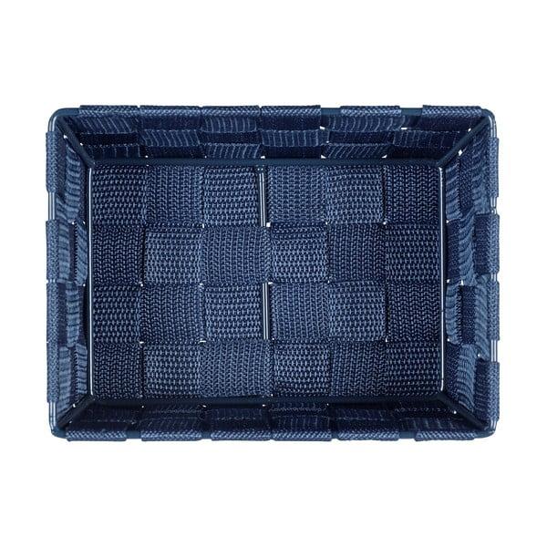 Modrý úložný košík Wenko Adria, 19 x 9 cm