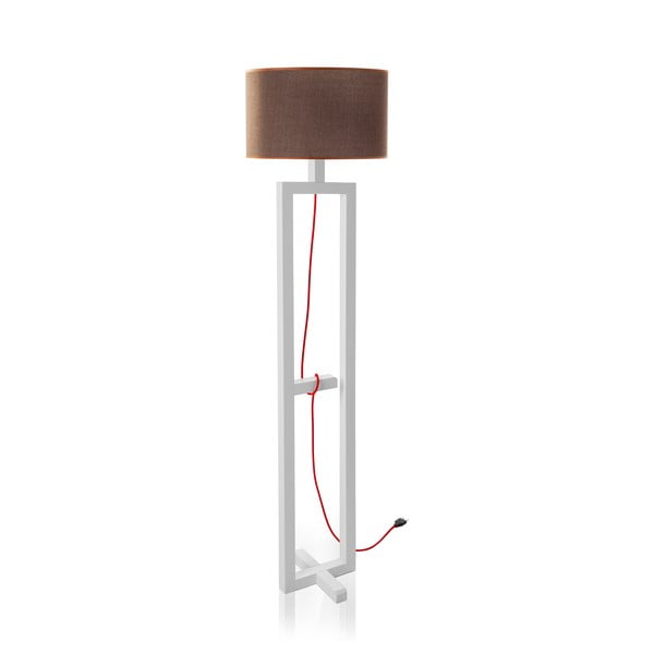 Stojací lampa White/Coffee