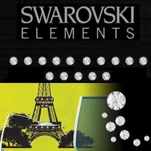 Sada 15 adhezivních Swarovski krystalů Fanastick Crystal