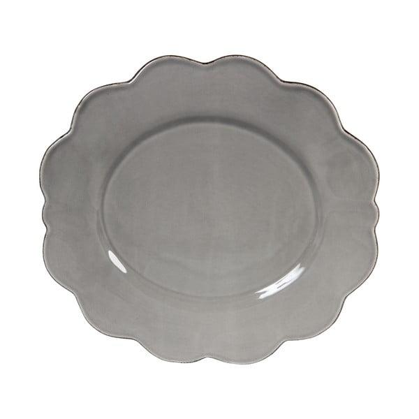 Sada 4 ks velkých talířů Grey Petale