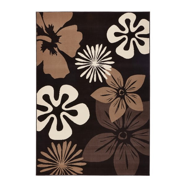 Covor Hanse Home Gloria Flower Brownie, 80 x 150 cm