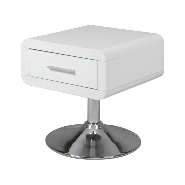 Bílý noční stolek s 1 šuplíkem Actona Comfort