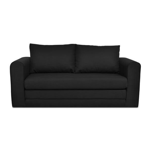 Czarna 3-osobowa sofa rozkładana Cosmopolitan design Honolulu