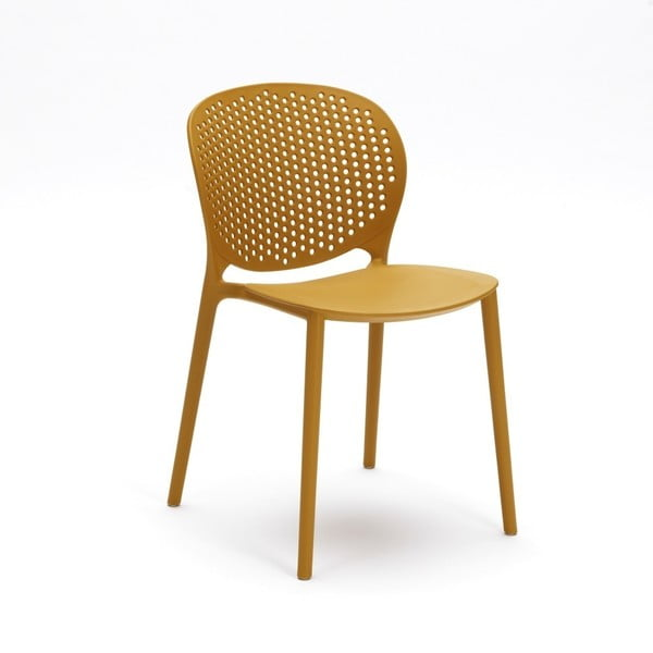 Sada 4 žlutých židlí Design Twist Gavle