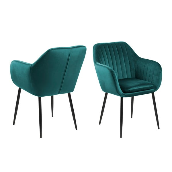 Zielony tapicerowany fotel Actona Emilia