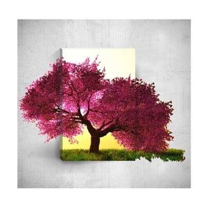 Nástěnný 3D obraz Mosticx Purple Tree, 40 x 60 cm