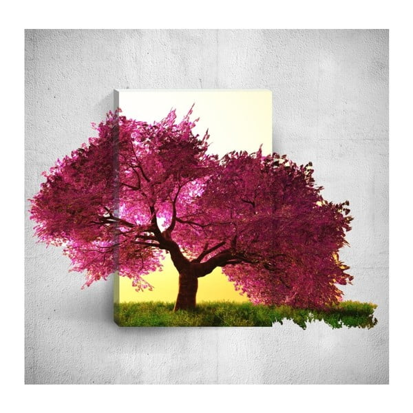 Tablou de perete 3D Mosticx Purple Tree, 40 x 60 cm