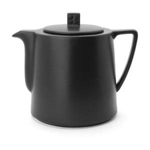 Černá keramická konvice se sítkem na sypaný čaj Bredemeijer Lund, 1,5 l