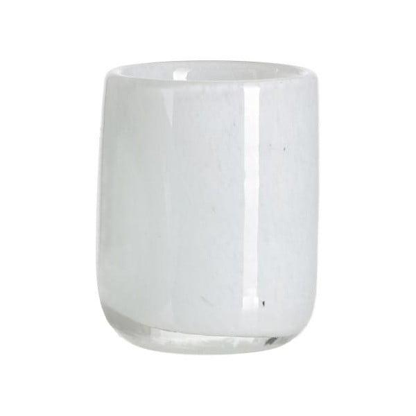 Bílý skleněný svícen ASimple Mess Kron, ⌀7cm